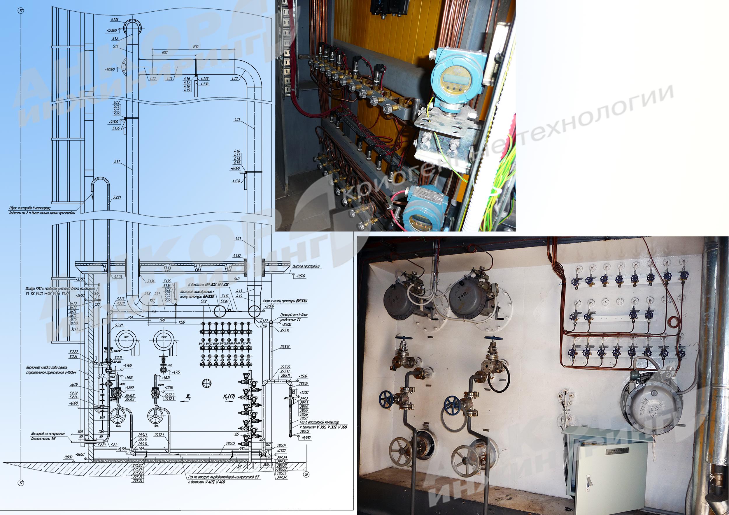 Проект станции хранения и газификации жидкого азота, производительностью 3000 нм<span>3</span>/ч